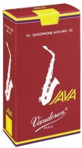 "VANDOREN JAVA ""RED CUT"" ALTO SAX REEDS, BOX OF 10"
