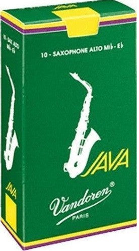 VANDOREN JAVA ALTO SAX REEDS, BOX OF 10