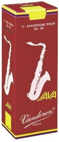 "VANDOREN JAVA ""RED CUT"" TENOR SAX REEDS, BOX OF 5"