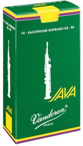 VANDOREN JAVA SOPRANO SAX REEDS, BOX OF 10