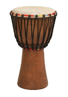 "TYCOON ""AFRICA"" DJEMBE DRUM, 10"" ROPE TENSION, GOAT SKIN HEAD"