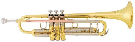 "BACH ""ARISTOCRAT"" Bb TRUMPET, .460"" BORE, 1st SLIDE THUMBHOOK, ROSE BRASS LEADPIPE, STAINLESS STEEL VALVES, LACQUERED FINISH, ABS CASE"