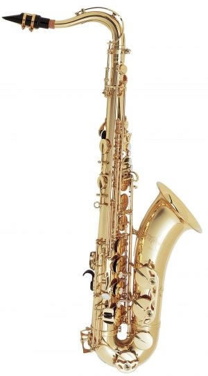 "SELMER ""ARISTOCRAT"" TENOR SAX, HIGH F#, CLEAR LACQUER BODY, NICKEL PLATED KEYS, ABS CASE"