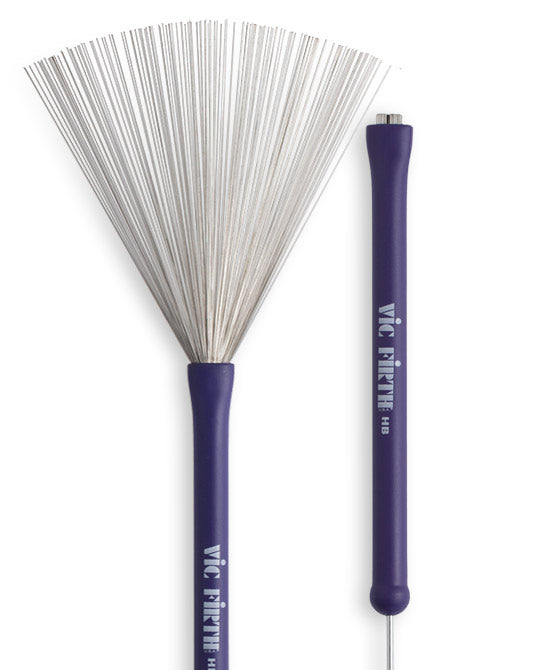 "VIC FIRTH ""HERITAGE"" WIRE DRUM BRUSHES, PURPLE RUBBER GRIP"