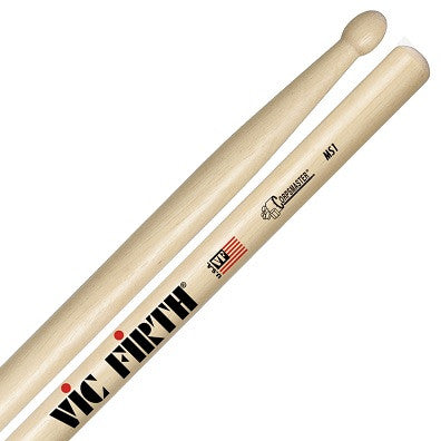 "#MS1 VIC FIRTH ""CORPSMASTER"" MARCHING STICKS, WOOD TIP"