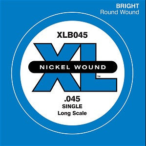 ".045"" XL NICKEL WOUND, ELECTRIC BASS SINGLE ""G"" STRING, LONG SCALE"