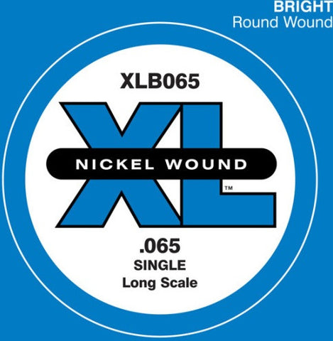 ".065"" XL NICKEL WOUND, ELECTRIC BASS SINGLE ""D"" STRING, LONG SCALE"