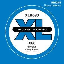 ".080"" XL NICKEL WOUND, ELECTRIC BASS SINGLE ""A"" STRING, LONG SCALE"