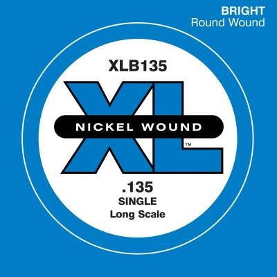 ".135"" XL NICKEL WOUND, ELECTRIC BASS SINGLE ""B"" STRING, LONG SCALE"