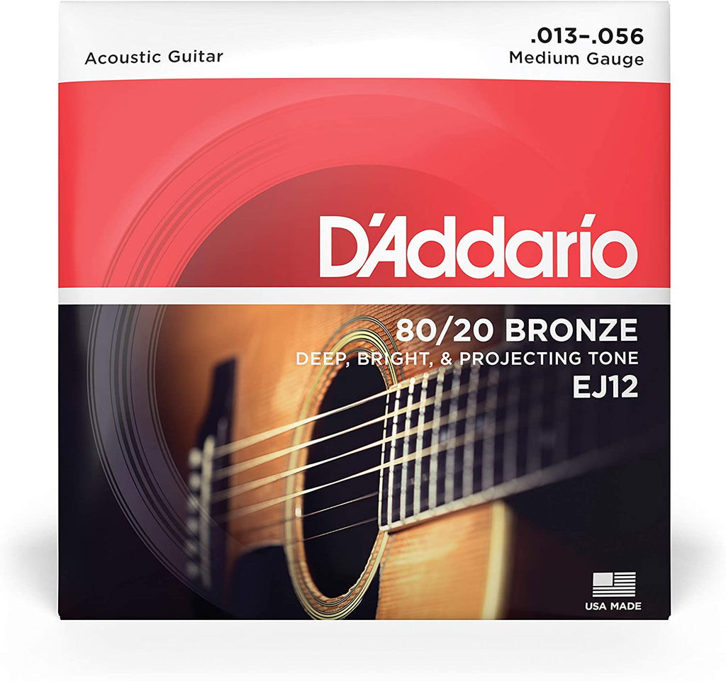 D'ADDARIO 85/20  BRONZE ACOUSTIC GUITAR STRING SET, MEDIUM
