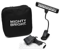 "MIGHTY BRIGHT ""ENCORE"" STAND LIGHT, 1 ARM, 6 LEDs, 2x BRIGHTNESS SETTING, CLIP-ON"