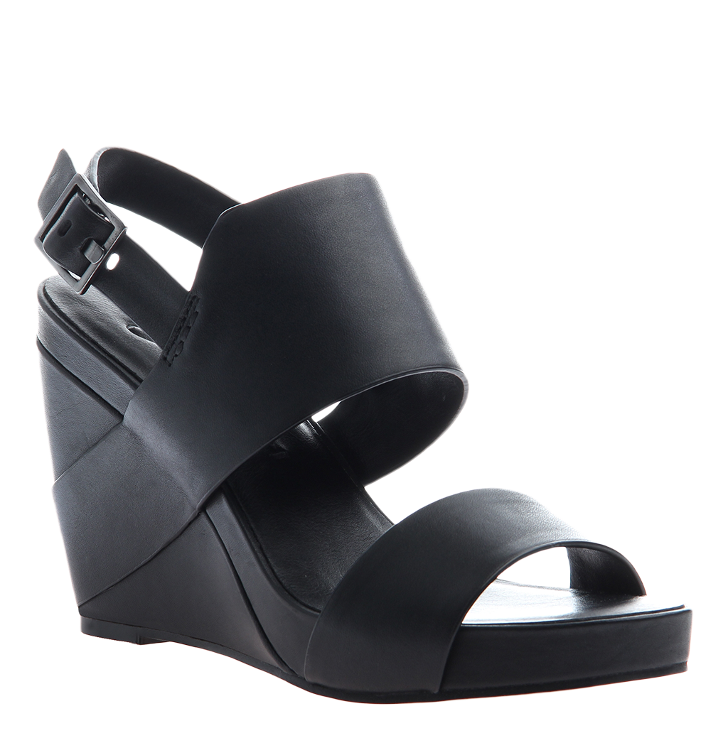 AALTOO in BLACK Wedge Sandals