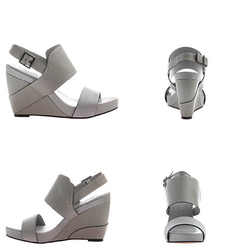 AALTOO in GREY Wedge Sandals