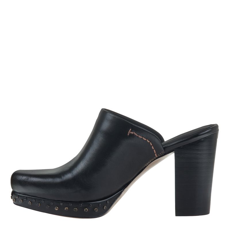Womens mule heel Arion in Black left