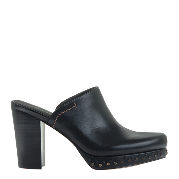 Womens mule heel Arion in Black right