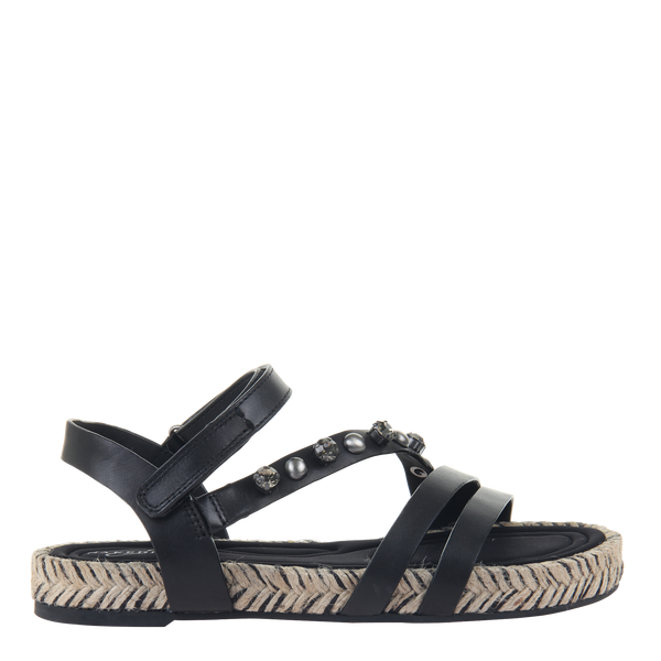 Womens sandal in Arko in black right