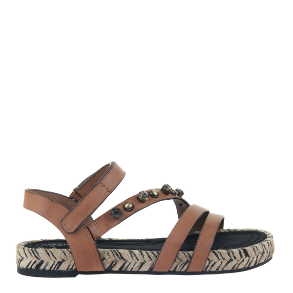 Womens sandal in Arko in brown leather right