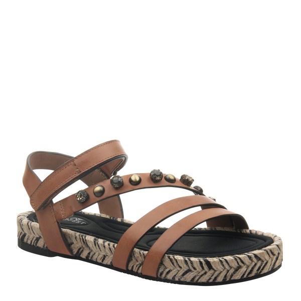 Womens sandal in Arko in brown leather