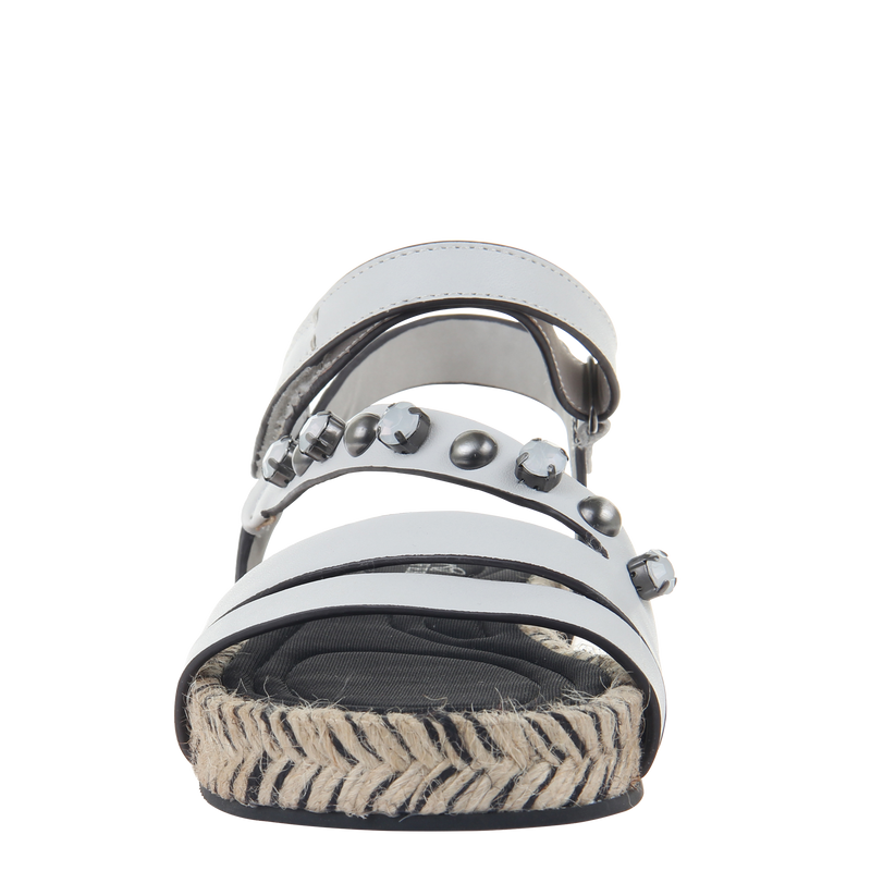 Womens sandal in Arko in Dove Grey front