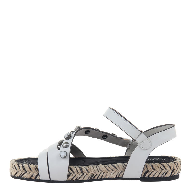 Womens sandal in Arko in Dove Grey left