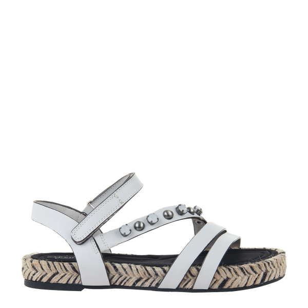 Womens sandal in Arko in Dove Grey right