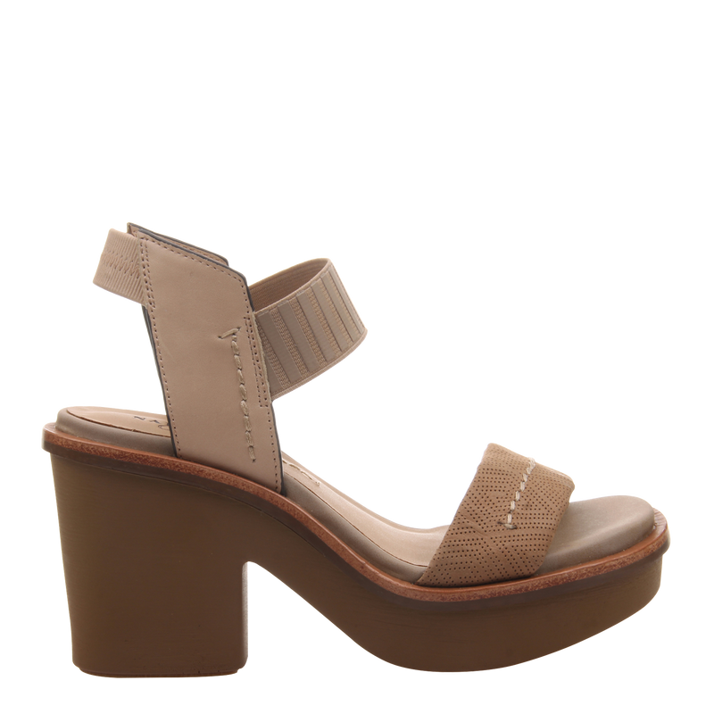 Womens heel sandal basalt in light taupe right