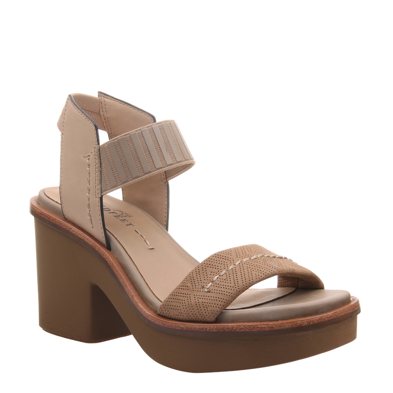 Womens heel sandal basalt in light taupe