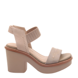 Womens heeled sandal Basalt in new taupe right