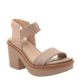 Womens heeled sandal Basalt in new taupe