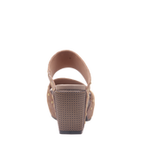 Womens heeled sandal beslow in chipmunk back