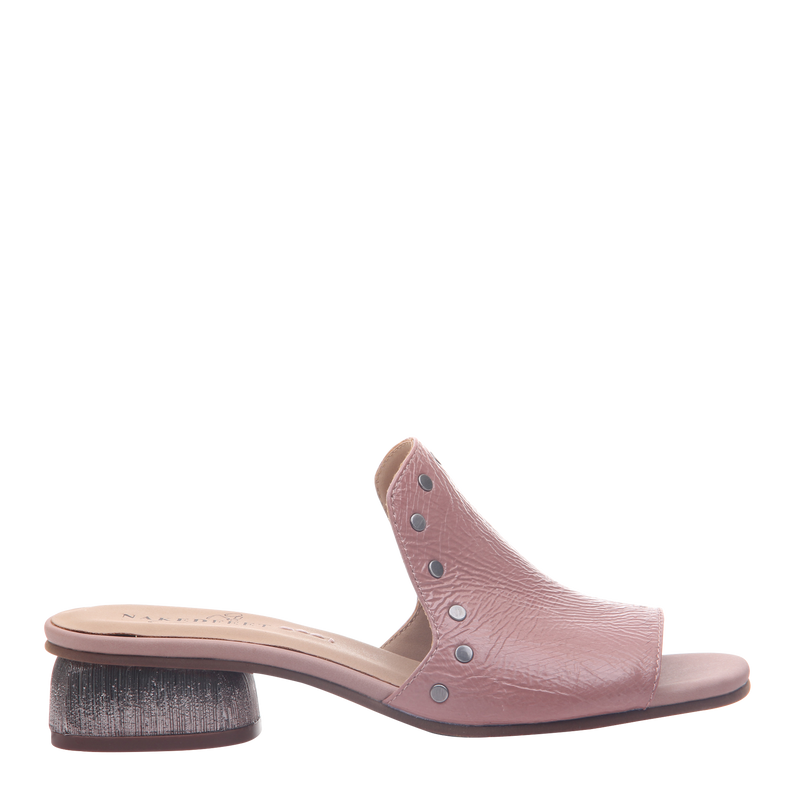 Womens heel bijoux in mauve right