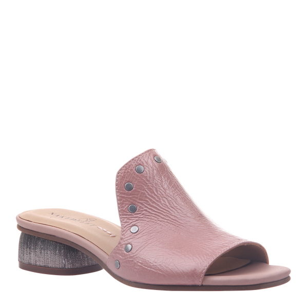 Womens heel bijoux in mauve
