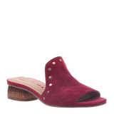 Womens heel bijoux in roman cherry