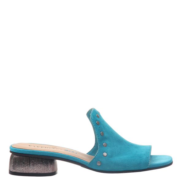 Womens heel bijoux in turquoise right