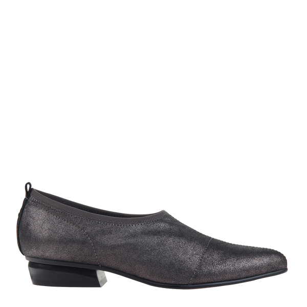 Womens slip on caldi in pewter left