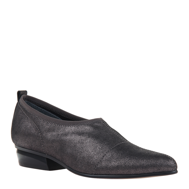 Womens slip on caldi in pewter