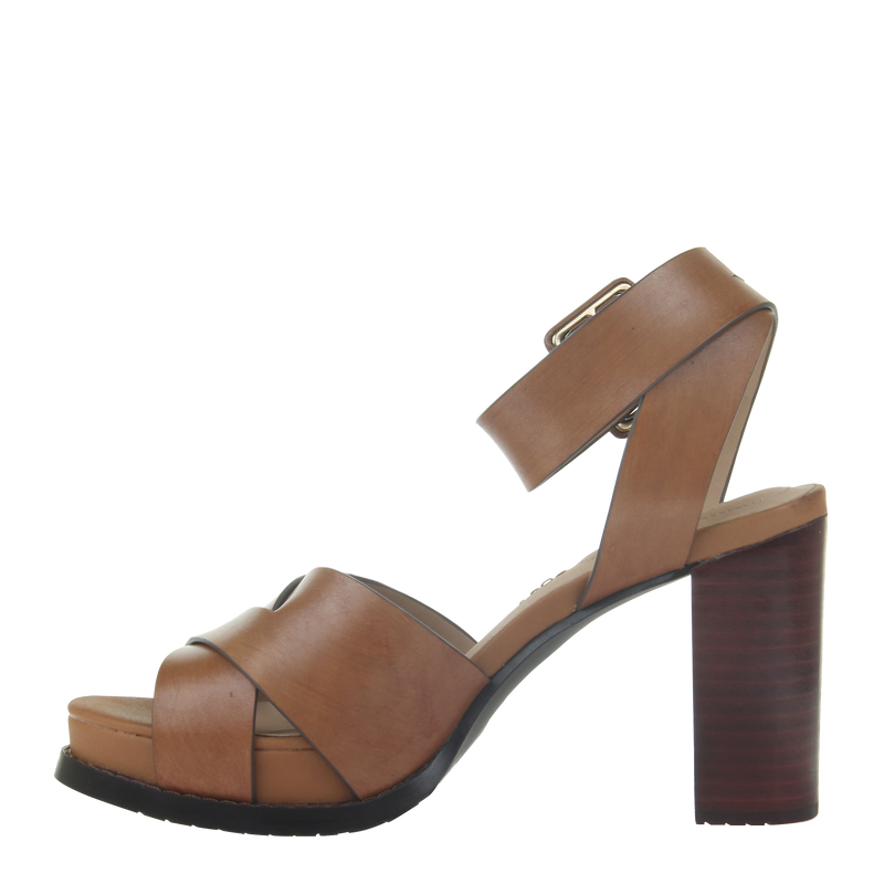 Womens heel ciro in Honey left
