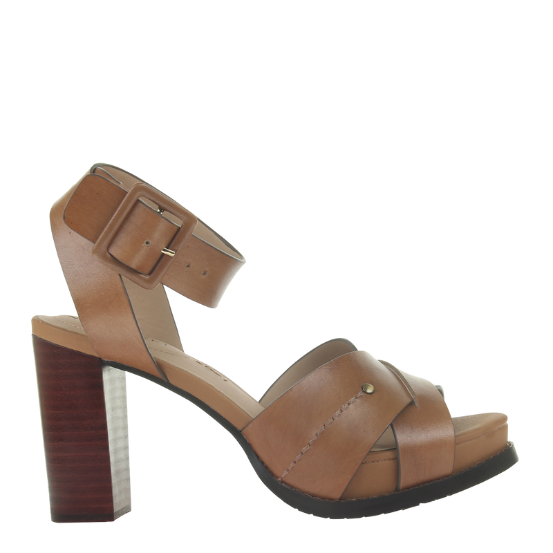 Womens heel ciro in Honey right