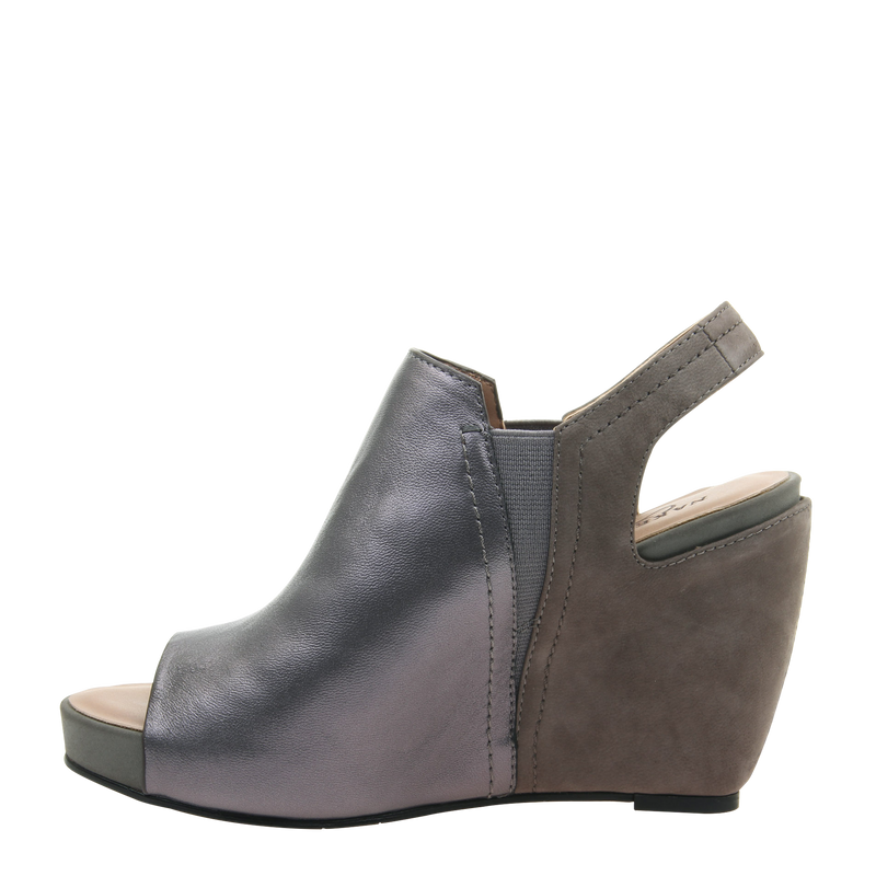 Womens wedge Columba in Dark Pewter left