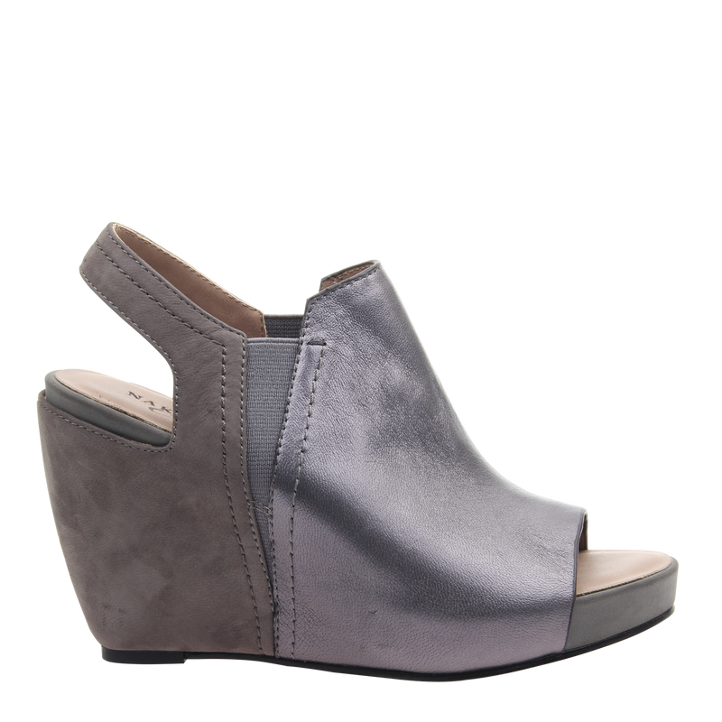 Womens wedge Columba in Dark Pewter right
