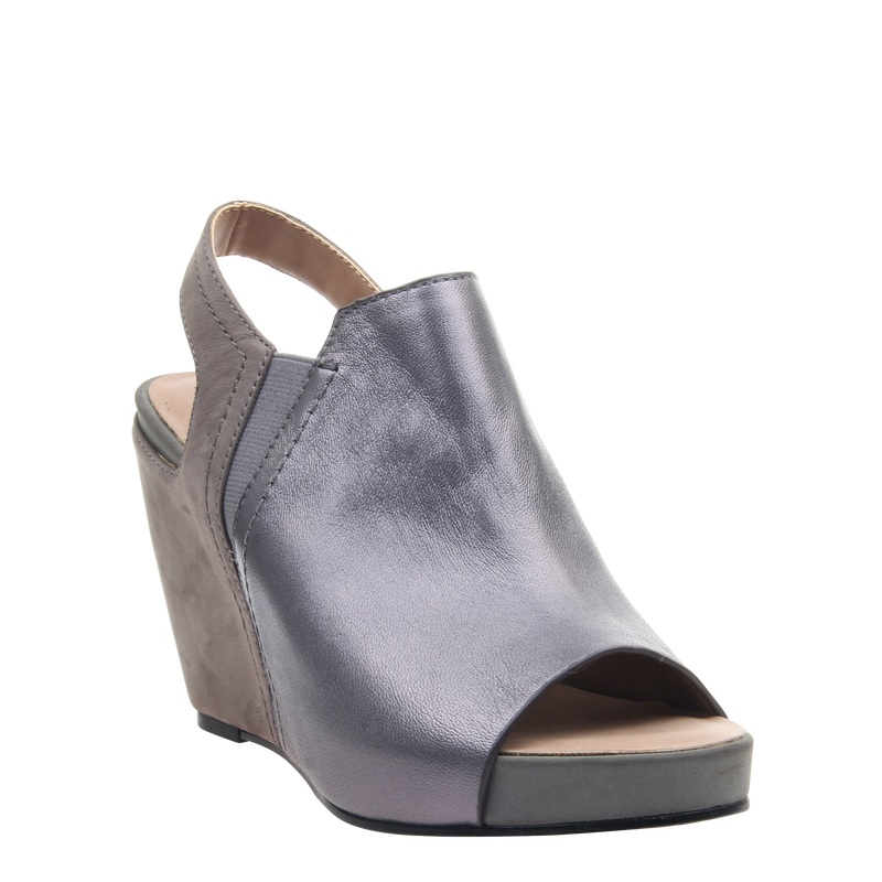 Womens wedge Columba in Dark Pewter