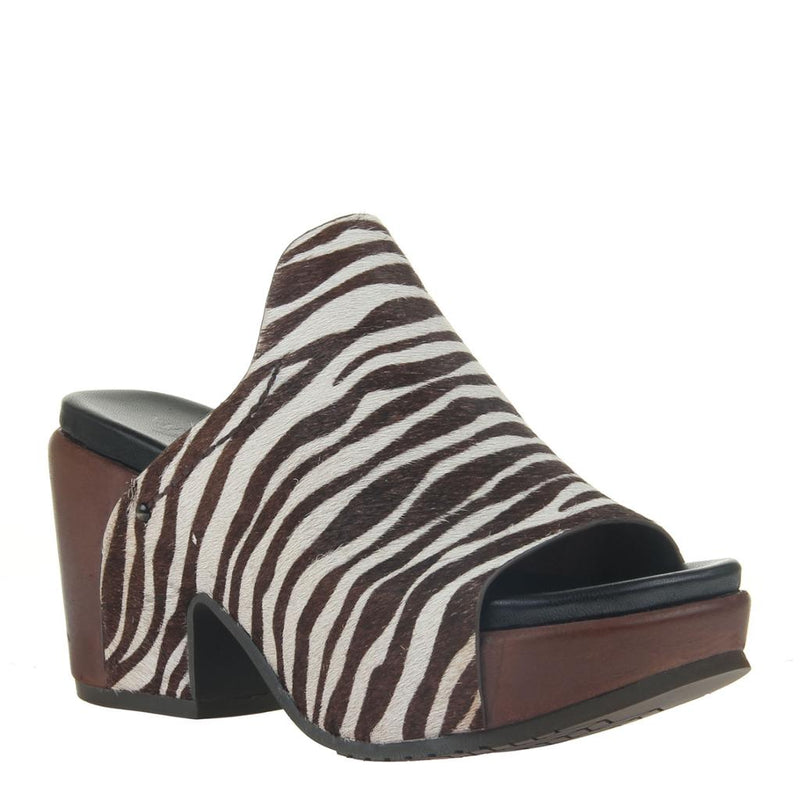CORINTH 2 in ZEBRA PRINT Heeled Sandals