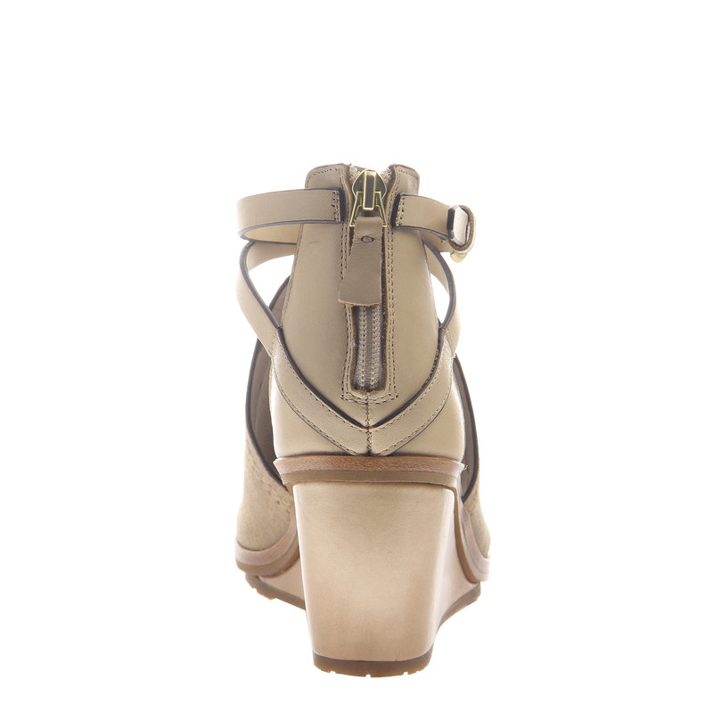 Womens wedge Crux in New Taupe back