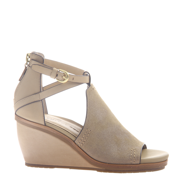 Womens wedge Crux in New Taupe right