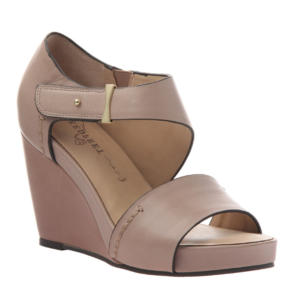 DORADO in MID TAUPE Wedge Sandals