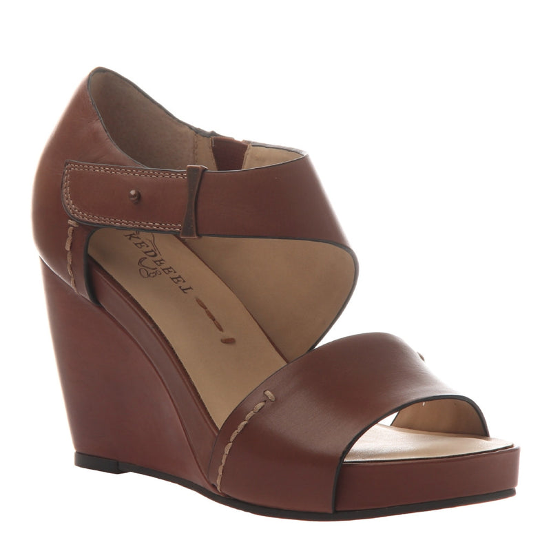 DORADO in VELVET BROWN Wedge Sandals