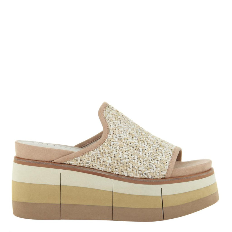FLOCCI in BEIGE Wedge Sandals