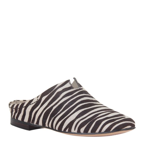 Womens flat Fondo in zebra