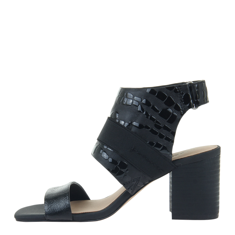 Womens heel Fresca in black left