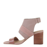 Womens heel sandal Fresca in mauve left